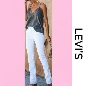 LEVI'S White 515 Nouveau Bootcut Jeans 10